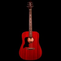 Sawtooth Modern Vintage Series Mahogany Lefty Dreadnought Acoustic Guitar - Transparent Cherry (STLHADMVCH)