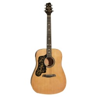 Sawtooth ST-AD Series Beginner Lefty Acoustic Guitar - Natural W/ Custom Pickguard (STLHADND)