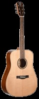 Teton Solid Spruce Top Mahogany Back And Side Dreadnought Acoustic Guitar - Natural (STS100NT)