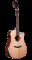 Teton Solid Cedar Top Dreadnought Arm Rest Acoustic Electric Guitar (STS105CENTARR)