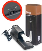 Stagg Universal Sustain Pedal For Electronic Piano Or Keyboard, With Polarity Switch (SUSPED10)