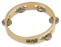 "Toca Player's Wood Tambourine, 7-1/2"" Single Row (T1075)"