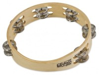 "Toca Player's Wood Tambourine, 9"" Double Row (T1090)"