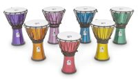 "Toca Freestyle Colorsound 7"" Djembes, Set of 7 (TFCDJ7MS)"