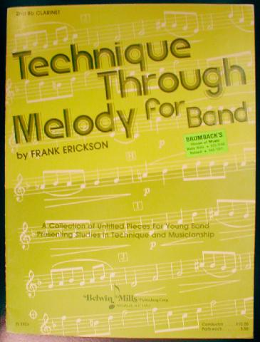 Technique Through Melody for Band by Frank Erickson (TTMB)
