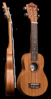 Amahi Concert Mahogany Travel Ukulele w/ Deluxe Bag (UK210KK24)