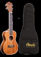 Amahi Concert Mahogany with White Binding Ukulele w/ Deluxe Bag (UK217C)