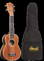 Amahi Soprano Mahogany With White Binding Ukulele w/ Deluxe Bag (UK217S)
