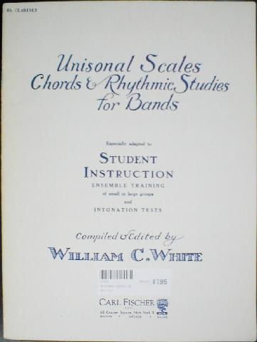 Unisonal Scales, Chords & Rhythmic Studies for Bands (USCRSB)