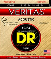 DR Strings VTA-12 VERITAS™ Acoustic Guitar String 12-54 (VTA12)